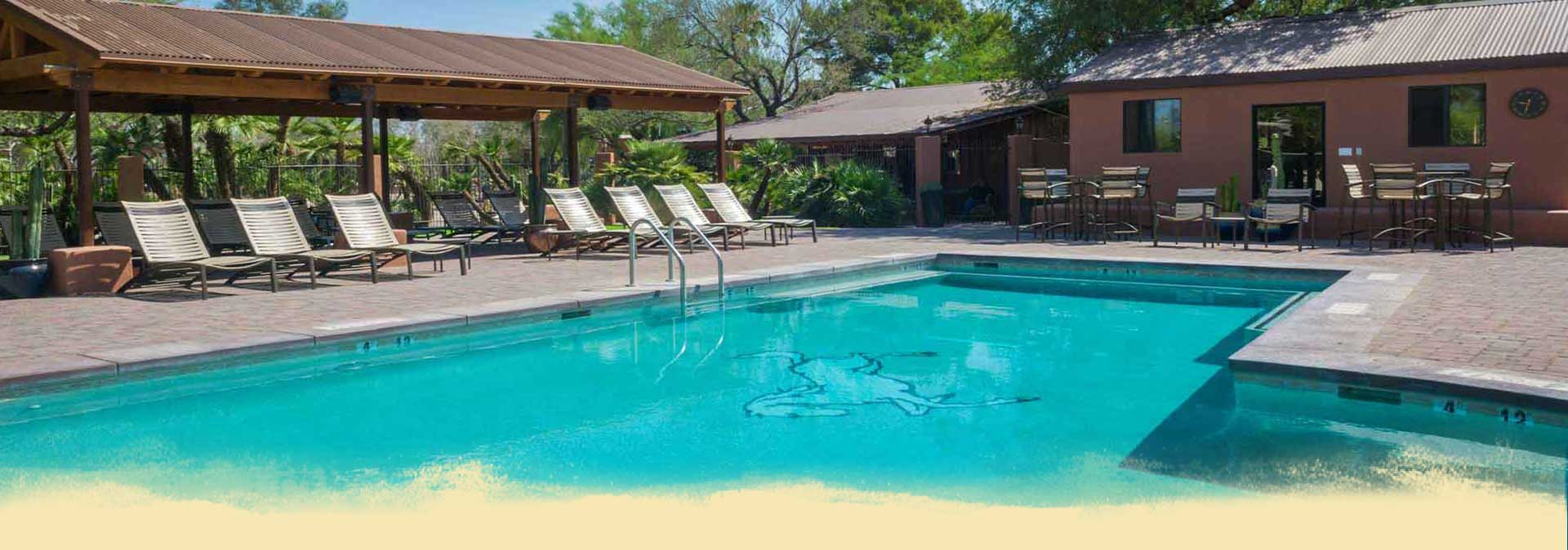White Stallion Ranch Pool Header