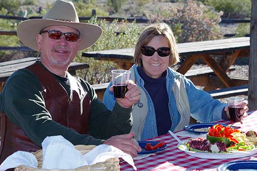 Eating Outdoors at White Stallion Ranch