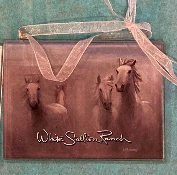 Horses Running Ornament