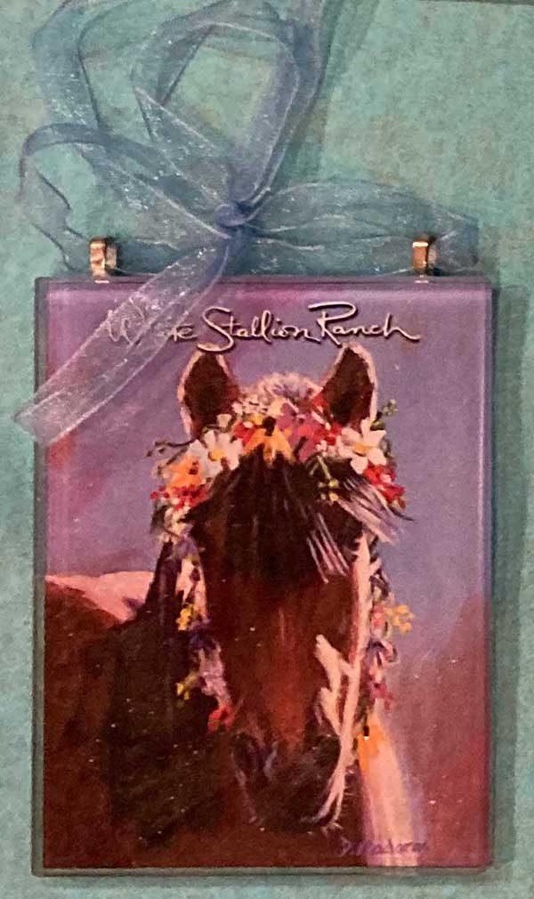 Wreath Horse Ornament